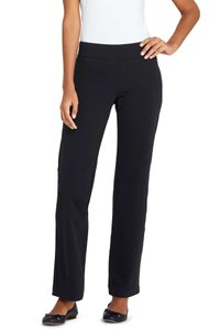 Lands' End Lounge Knit Stretch Casual Cotton Relaxed Pants Black