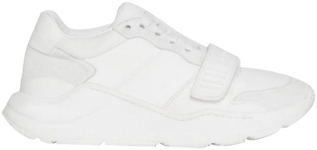Item - White Women's Suede Neoprene and Leather Sneakers Size EU 37.5 (Approx. US 7.5) Regular (M, B)