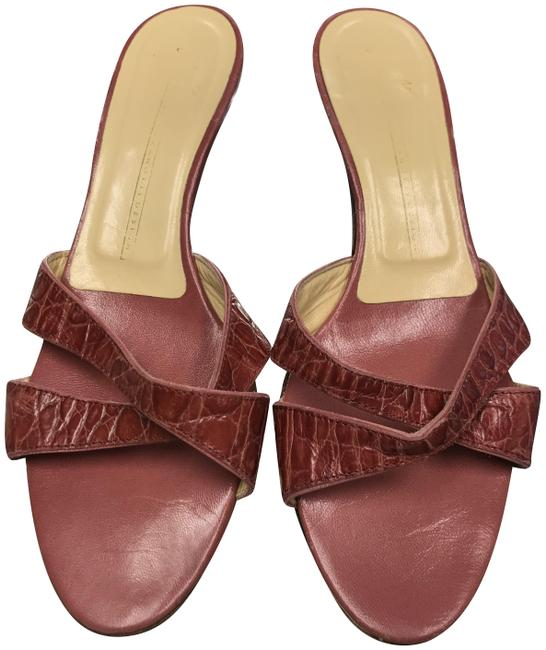 Item - Red Design Womens Embossed Leather Sandals Size EU 36.5 (Approx. US 6.5) Regular (M, B)
