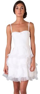 BCBGMAXAZRIA Ruffle Reception Classic Sweetheart Strappy Strapless Dress