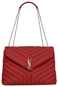 Saint Laurent Leather Ysl Envelope Shoulder Bag