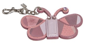 Coach Coach Purple Leather Patchwork Butterfly Charm