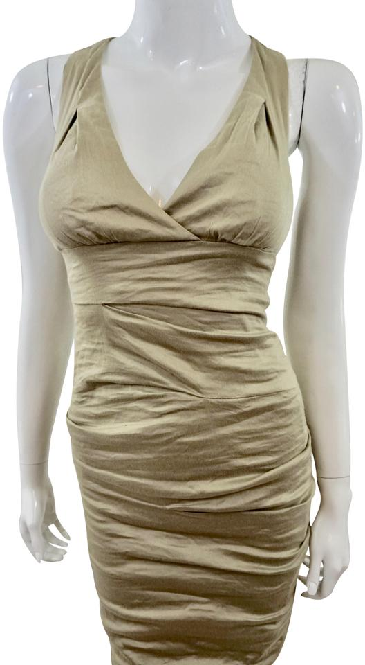 d96dce0d808 Nicole Miller Olive Mid-length Cocktail Dress Size 0 (XS) - Tradesy