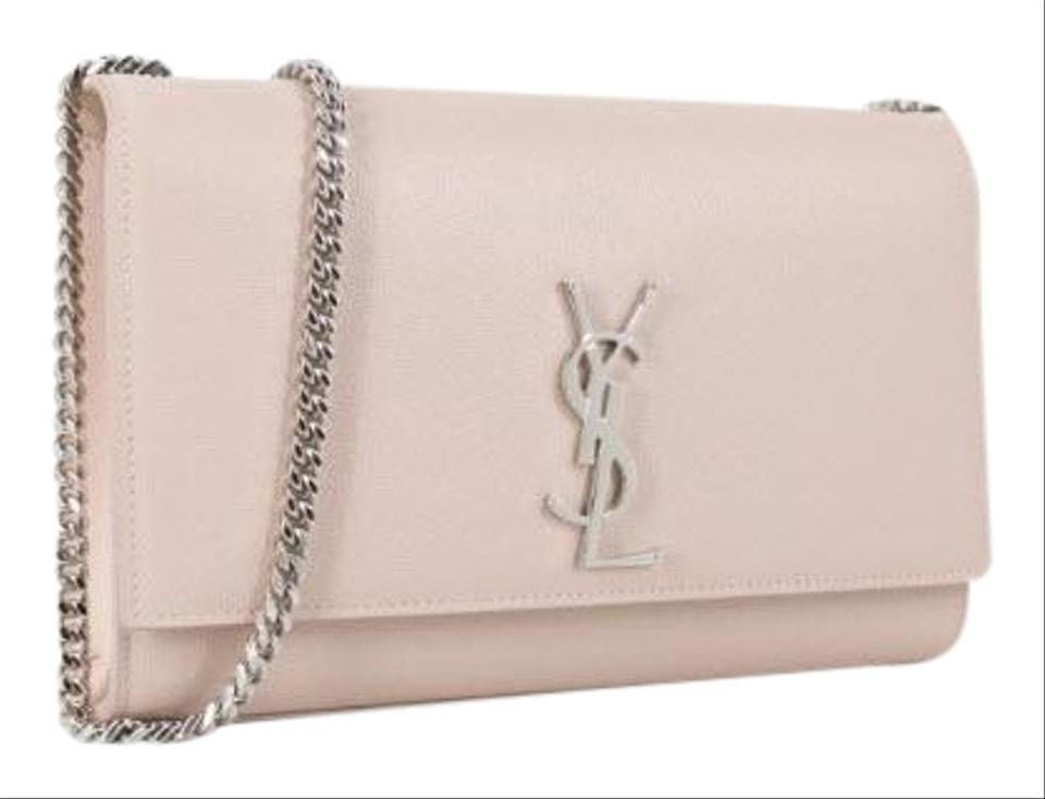 6d7084ecfb81 Saint Laurent Monogram Kate New Medium Light Pink Calfskin Leather Cross  Body Bag
