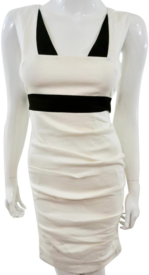967fd487ff7 Nicole Miller White Mid-length Cocktail Dress Size 0 (XS) - Tradesy