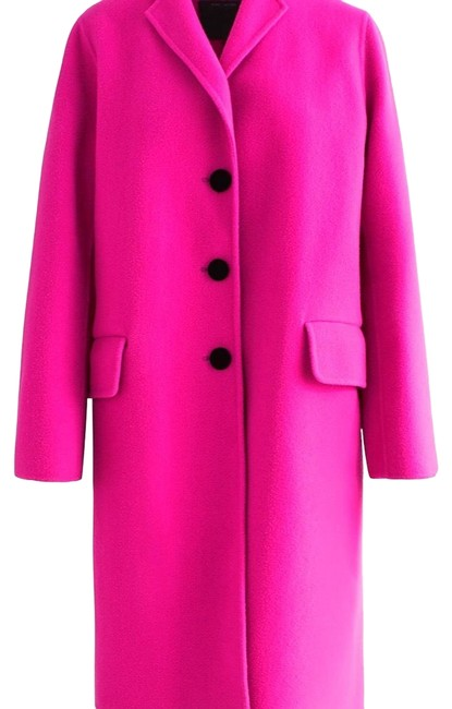 Preload https://img-static.tradesy.com/item/24523309/marc-jacobs-hot-pink-with-black-buttons-long-notched-collar-wool-coat-size-0-xs-0-1-650-650.jpg