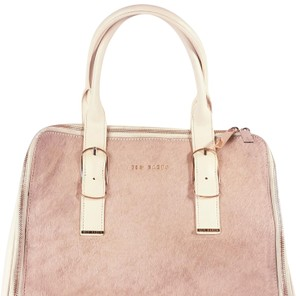 Ted Baker Tote in Light Pink. Rose gold zippers