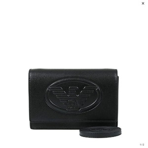 80af6d0be9 Emporio Armani Black Faux Leather Cross Body Bag