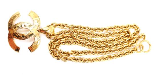 Chanel RARE XL CC Quilted Texture Large gold chain necklace