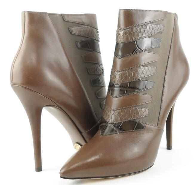 Item - Grey Multi Duris Leather Ankle Boots/Booties Size US 10 Regular (M, B)