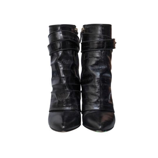 Givenchy Shark Lock Tooth Leather black Boots