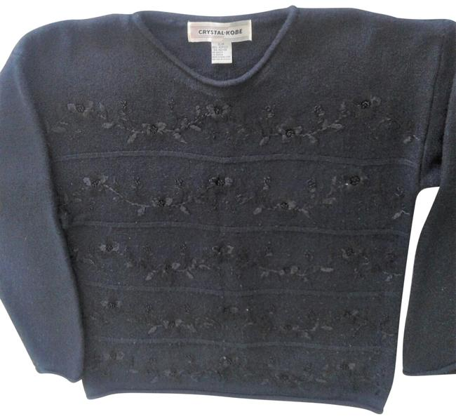 Item - Embroidered Black Sweater