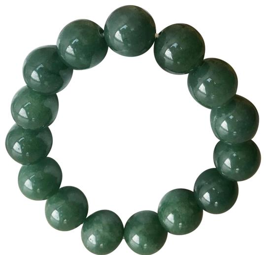 Preload https://img-static.tradesy.com/item/24523501/jade-bean-with-silk-red-gold-pouch-size-fits-all-bracelet-0-1-540-540.jpg