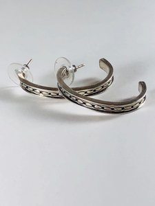 Barse Barse Two Tone Hoops