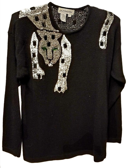 Item - Panther Sequined Black Sweater