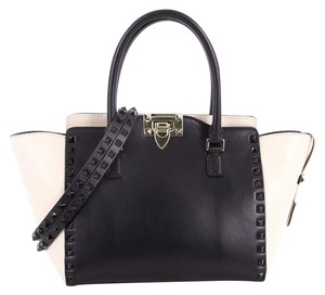 Valentino Leather Tote in Black and White