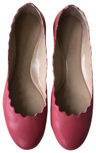 Chloé Leather Scalloped Raspberry pink Flats