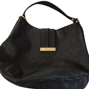 fe58ddf6c6a Gucci Indy Medium Babouska Top Handle Black Leather Hobo Bag - Tradesy