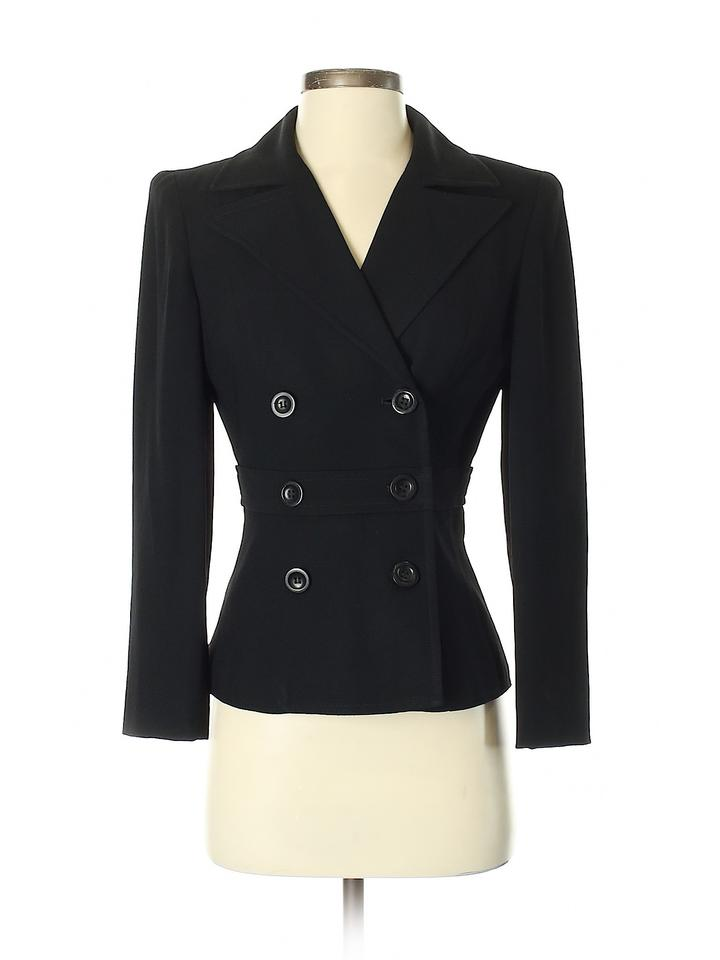 bebe Black With Military Inspired Buttons Blazer Size 4 (S)