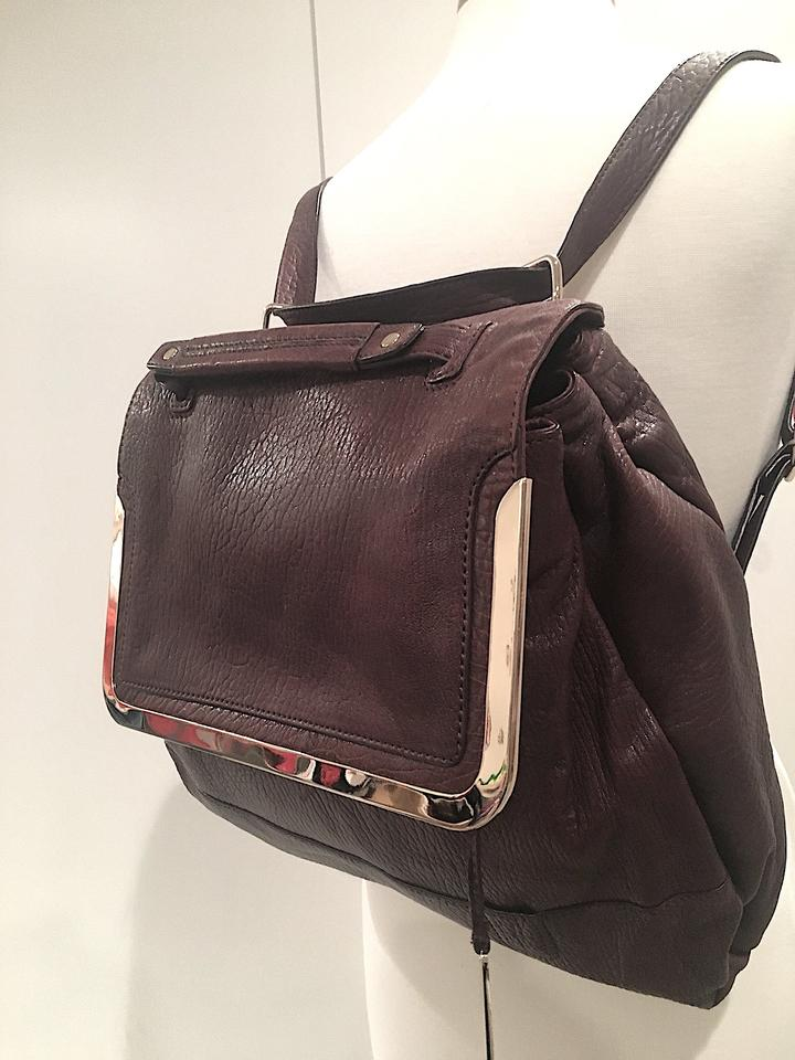 Botkier Misha Convertible Bag Backpack Burgundy Leather Backpack ... 94fe7bef471ba