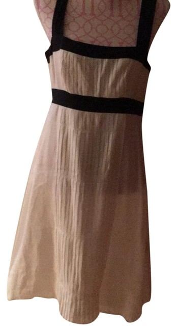 Item - Off White and Black Trim Mid-length Work/Office Dress Size 10 (M)