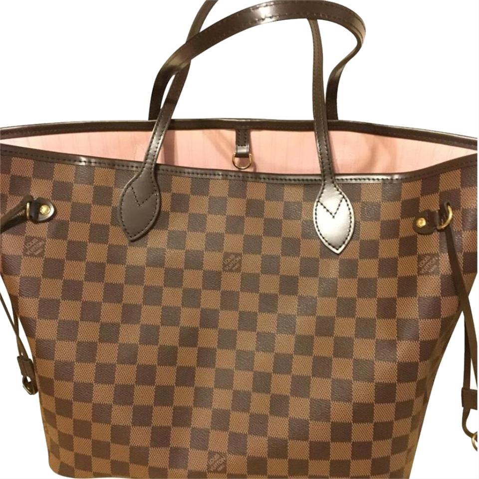 Louis Vuitton Neverfull New Damier Ebene Pink Coated Canvas Tote 32% off retail