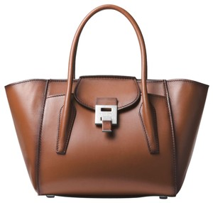 Michael Kors Leather Professional Satchel in Saddle