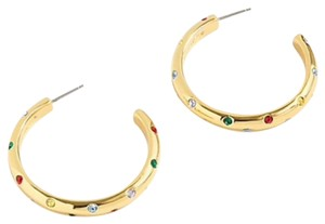 J.Crew Crystals Studed Hoops