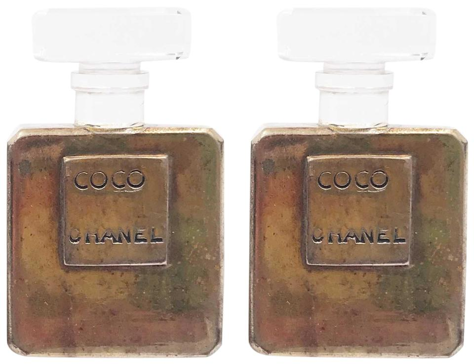 cb3661c45fd6 Chanel Chanel Perfume Bottle Large Clip on Earrings as seen on Miley Cyrus  Image 0 ...
