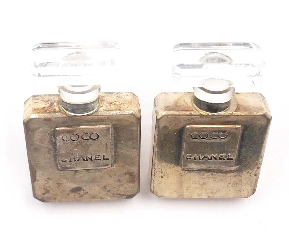 60575600890c Chanel Chanel Perfume Bottle Large Clip on Earrings as seen on Miley Cyrus  Image 3. 1234