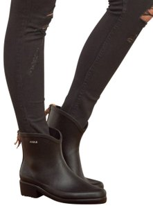 AIGLE Ankle Rubber Waterproof Black Boots