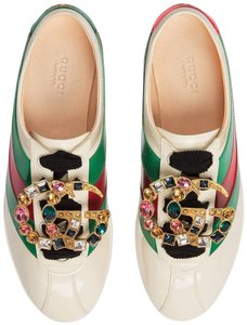 Gucci Sneakers Trainer Falacer Crystal Vernice White Green Red Athletic