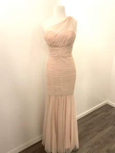 Amsale Blush Tulle G833u Formal Bridesmaid/Mob Dress Size 6 (S)