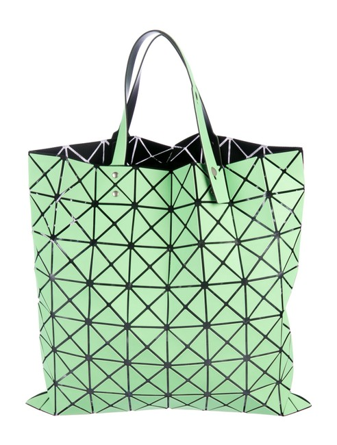 Item - Bao Bao Lucent Basic Neon Green Polyester Tote