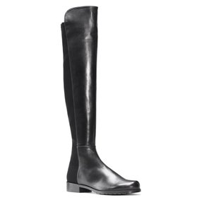 Stuart Weitzman 5050 Over The Knee Leather Black Boots