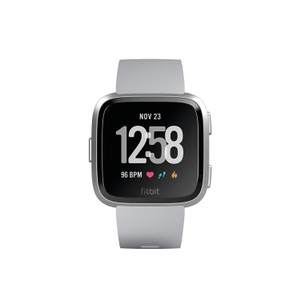 fitbit Fitbit Versa Smart Watch, Gray/Silver Aluminium,One Size (S & L Bands)