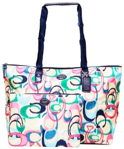 Coach Shoulder Weekender Machine Washable Travel Tote in Multi-Colored