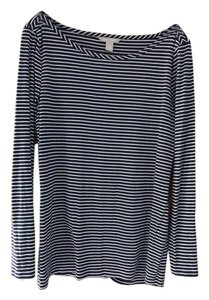 Banana Republic Br Nautical Navy Mini Stripe Sweater