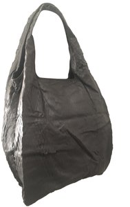 Twelfth St. by Cynthia Vincent Oversized Laser Cut Leather Tote in Grey