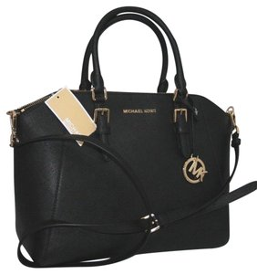 f9f19c2919c669 Added to Shopping Bag. Michael Kors Satchel in Black. Michael Kors Ciara  Large Top Black Saffiano Leather Satchel