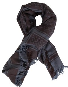 Gucci GUCCI Brown and Blue Scarf