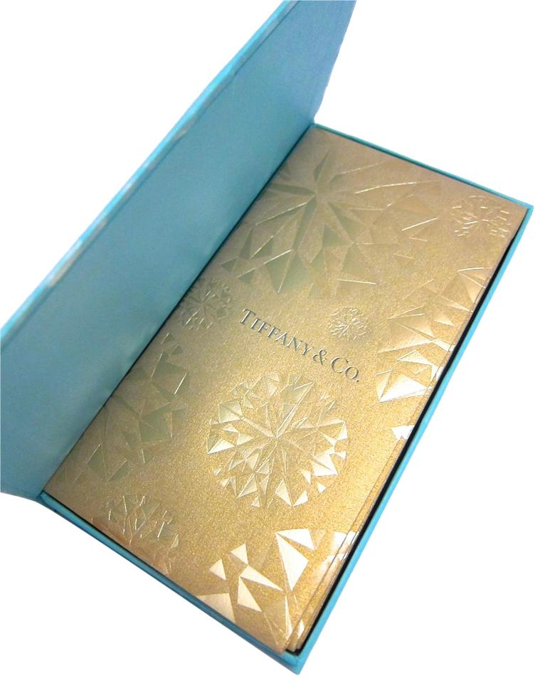 Tiffany Co New Collectibles 8 Gold Envelope Holiday Set W Blue Box