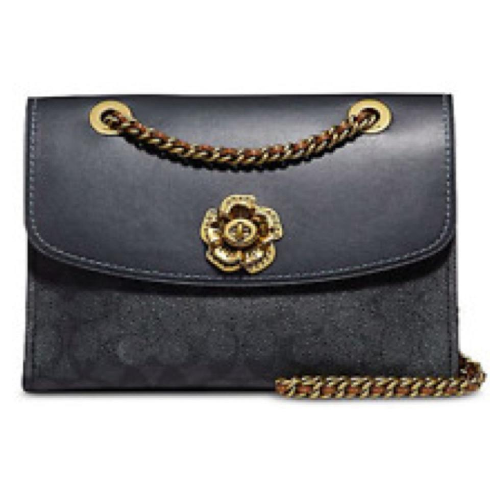 3030502607 Coach Parker Signature Colorblock Charcoal Midnight Navy Brass ...