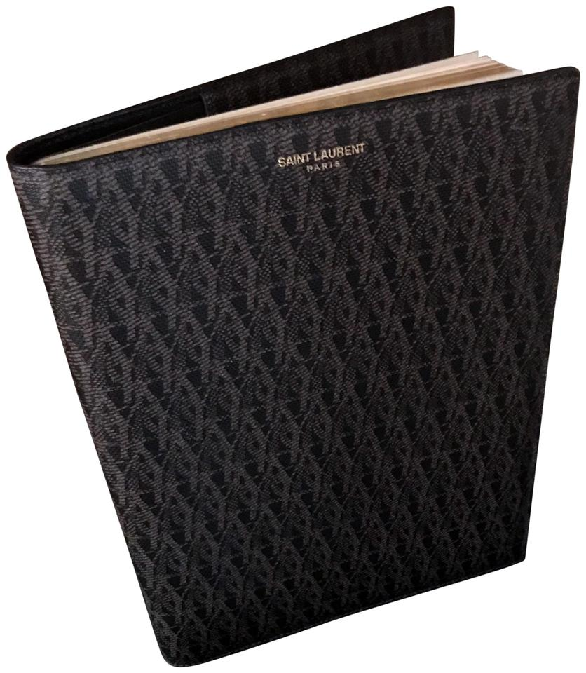 Saint Laurent YSL Monogram Leather Notebook   Document Holder   Agenda  Image 0 ... 65c8c9e56f427