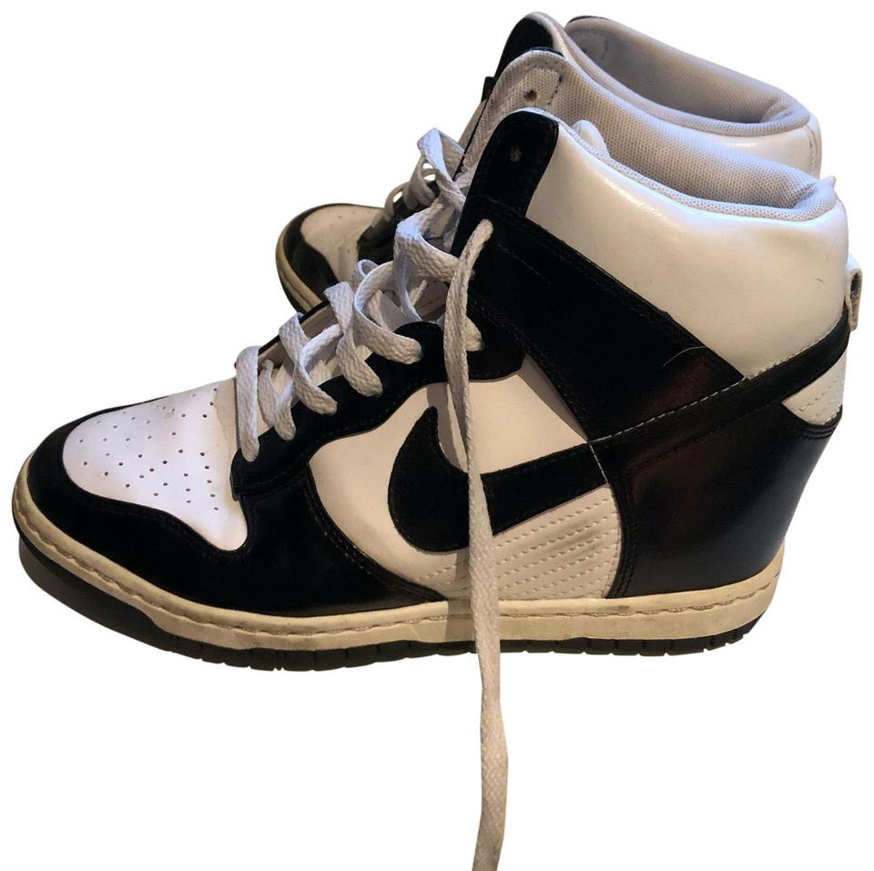 Nike Black and White Dunk Sky Hi Wedge Sneakers Sneakers Size US 10 ... 37099734d8d6