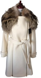 Sean Collection Raccoon Fur Trench Coat