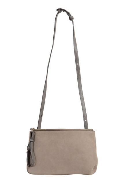 Item - Crossbody 11 Women's Women's Gray Leather Clutch