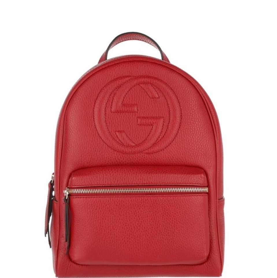 Gucci Soho Red Leather Backpack - Tradesy 84b1934c9ea48