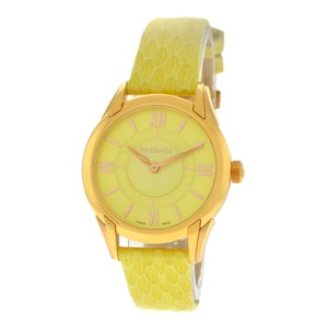 Versace Authentic New Versace Dafne VFF05 0013 Gold Steel Lime Green Quartz