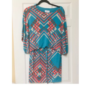 Jessica Simpson short dress Turquoise on Tradesy